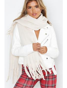 Supersoft Oversized Tassel Scarf by Boohoo