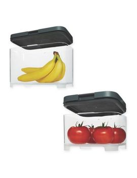Rubbermaid® Freshworks™ Countertop Produce Container With Lid In Grey/Clear by Bed Bath And Beyond