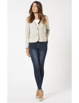 Knitted Blazer (Grey Marl) by Two For Joy