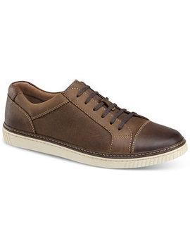 Men's Walden Cap Toe Suede Lace Up Sneakers by Johnston & Murphy