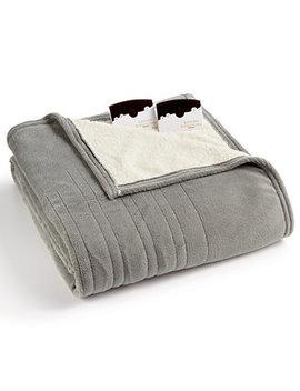 Microplush Reverse Faux Sherpa Heated Queen Blanket by Biddeford