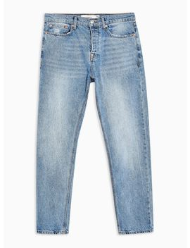 Mid Wash Rigid Tapered Jeans by Topman