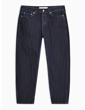 Navy And Yellow Stripe Original Jeans by Topman