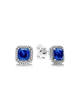 Blue Timeless Elegance, Earrings by Pandora