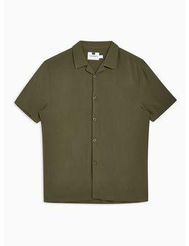 Khaki Revere Shirt by Topman