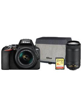 Nikon D3500 Dslr Camera With 18 55mm/70 300mm Lenses & Accessory Kit by Nikon