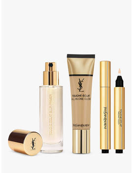 Yves Saint Laurent Touche Éclat Foundation Bd50 Warm Honey, Highlighter 3 And Primer With Gift (Bundle) by Yves Saint Laurent