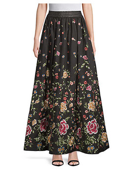 Alice + Olivia Embroidery Flare Skirt by Alice + Olivia