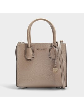 Mercer Medium Messenger Bag In Beige Calfskin by Michael Michael Kors