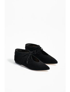 Ulla Johnson Duke Flat   Noir by Garmentory