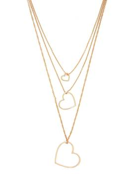 Heart Cutout Pendant Layered Necklace by Forever 21