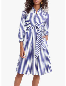 J.Crew Sybil Tie Waist Shirt Dress, Tushar Stripe Lighthouse by J.Crew