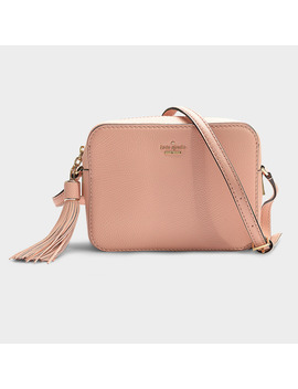 Arla Kingston Drive Crossbody Bag In Pink Calfskin by Kate Spade New York