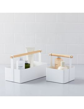 Wood Handle Bathroom Caddy by West Elm
