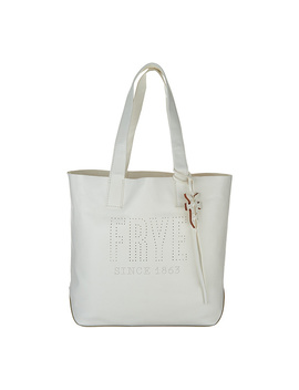 Frye Leather Perforated Logo Unlined Tote   Carson by Qvc