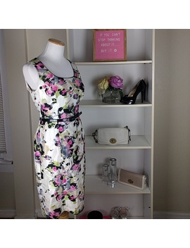Alex Maria Floral Sleeveless Dress Sz4 P by Alex Marie