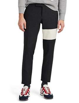 Cashmere Striped Wool Trousers by Thom Browne