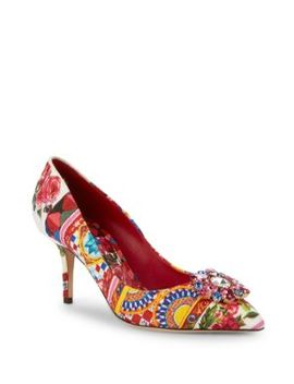 Print Leather Pumps by Dolce & Gabbana