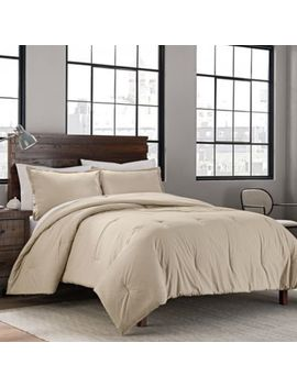 Garment Washed Solid Twin/Twin Xl Comforter Set In Denim by Bed Bath And Beyond