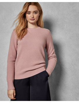 Textured Stitch Cashmere Blend Jumper by Ted Baker