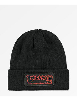 Thrasher China Banks Black Beanie by Thrasher