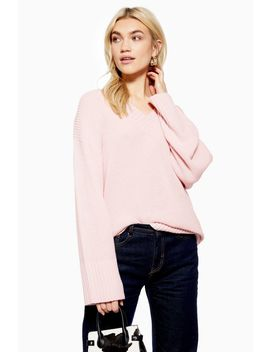 Longline V Neck Jumper With Cashmere by Topshop