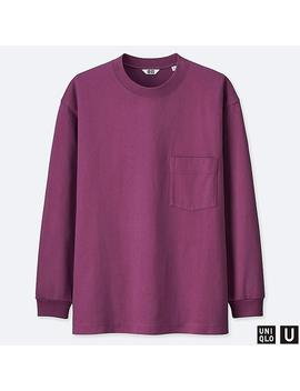 Men U Crew Neck Long Sleeve T Shirt by Uniqlo
