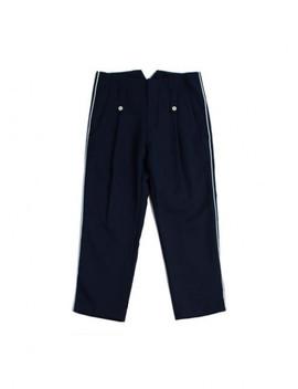 [Unisex] Piping Capri Pants Navy by Romantic Crown