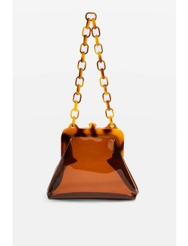 Tint Tortoiseshell Clip Frame Bag by Topshop