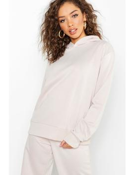 Basic Overhead Sweater Hooded by Boohoo