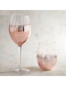 Rose Gold Wine Glasses by Pier1 Imports
