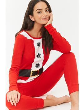 Santa Graphic Pajama Set by Forever 21