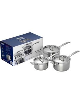 Le Creuset   3 Piece 3 Ply Stainless Steel Induction Saucepan Set by Le Creuset