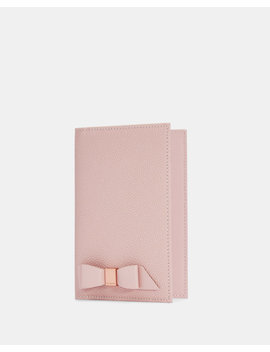 Bow Leather Passport Holder by Ted Baker