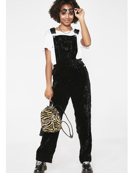 Pure Pandemonium Velvet Overalls by Current Mood