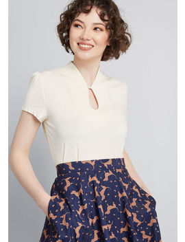 High Society Style Knit Top by Modcloth