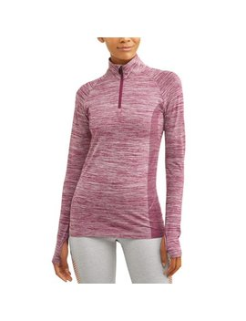 Athletic Works Women's Core Active Performance 1/4 Jacket With Thumbholes by Athletic Works