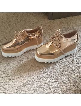 Nwb Rose Gold Platform Oxfords /Sneakers   9 (8.5)   Nwt by Windsor