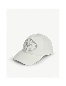 Logo Nylon Baseball Cap by Prada
