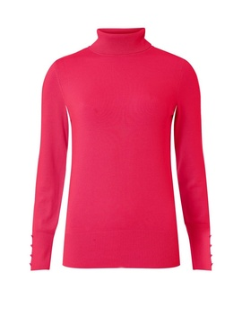 Bright Pink Roll Neck Jumper by Dorothy Perkins