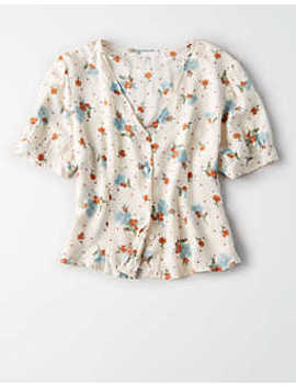 Don't Ask Why Button Up Blouse by American Eagle Outfitters