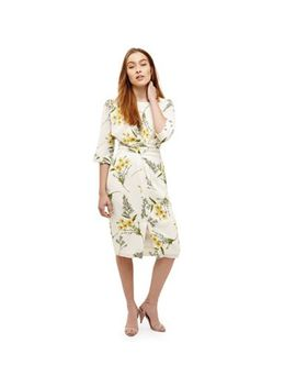 Phase Eight   Cream Sandrine Floral Wrap Tie Dress by Phase Eight