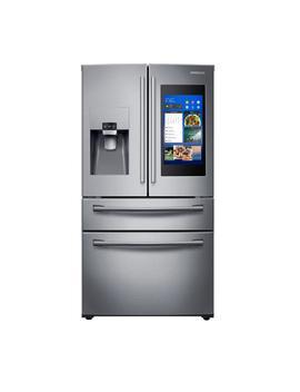 27.7 Cu. Ft. Family Hub 4 Door French Door Smart Refrigerator In Stainless Steel by Samsung