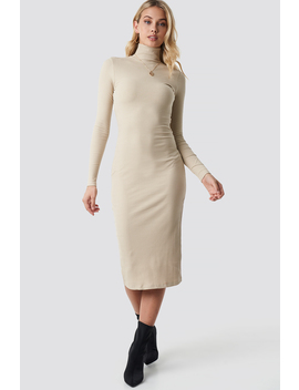 High Neck Ribbed Dress by Anna Nooshin X Na Kd