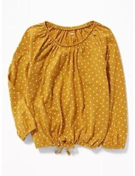 Slub Knit Off The Shoulder Tie Hem Top For Girls by Old Navy