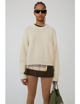 Ribbed Sweater Ivory White by Acne Studios