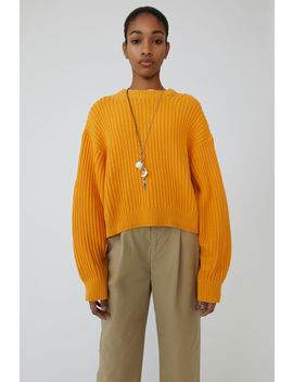 Ribbed Sweater Mandarin Orange by Acne Studios
