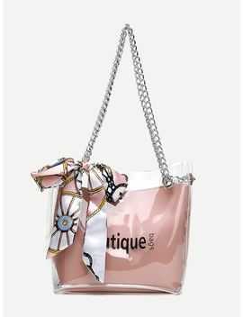 Twilly Scarf Chain Tote Bag by Sheinside