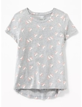 Softest Crew Neck Tee For Girls by Old Navy