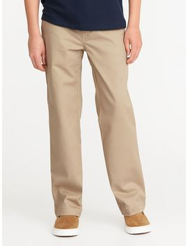Stain Resistant Uniform Straight Khakis For Boys by Old Navy